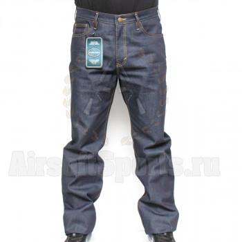 Брюки джинсовые (R-JEANS) с надписью